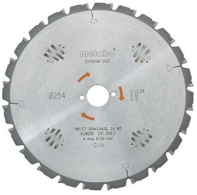 Пильный диск Metabo250x2.8/2x30 Z=24WZ5negKGS301/331 628013000 пильный диск metabo220x30 48 dz hz 628043000