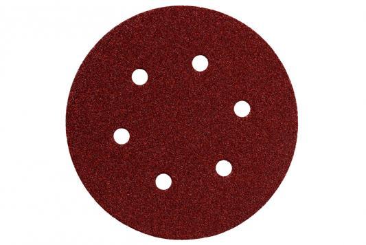 Круг шлифовальный Metabo 150мм Р100 6 отв 25шт 624022000 шлифовальный круг metabo250х40х51 60n 630637000