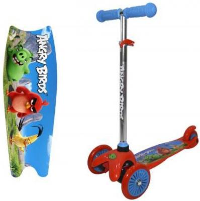 Самокат 1TOY Angry Birds — красно-синий 1toy самокат spider man