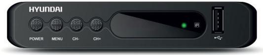Тюнер цифровой DVB-T2 Hyundai H-DVB160 черный d color dc700hd dvb t2 цифровой тв тюнер