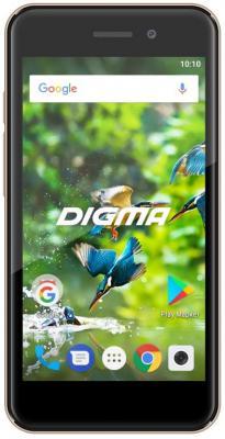 """все цены на Смартфон Digma LINX A450 3G золотистый 4.5"""" 8 Гб Wi-Fi GPS 3G LT4038PG онлайн"""