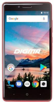 Смартфон Digma HIT Q500 3G красный 5 8 Гб Wi-Fi GPS 3G смартфон 5 digma vox s505