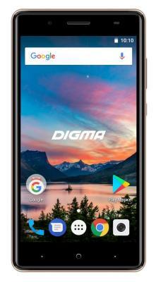 Смартфон Digma HIT Q500 3G 8 Гб золотистый (HT5035PG)