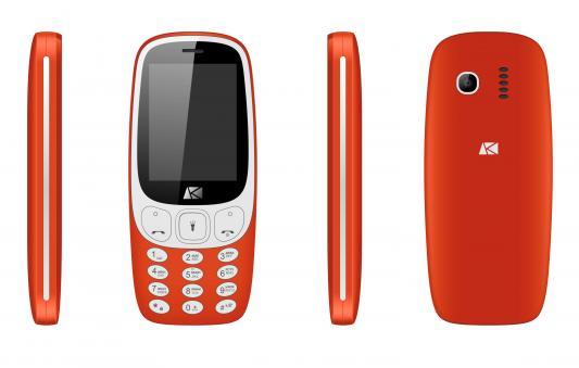 Мобильный телефон ARK U243 красный мобильный телефон ark benefit u281 белый 2 8 32 мб 3 симкарты