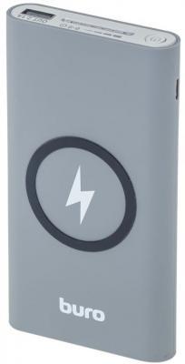 Внешний аккумулятор Power Bank 8000 мАч BURO HG8000-WCH серый белый внешний аккумулятор power bank 8000 мач defender extralife темно серый 83622