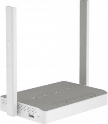 Беспроводной маршрутизатор Keenetic Omni KN-1410 802.11bgn 300Mbps 2.4 ГГц 4xLAN USB белый серый