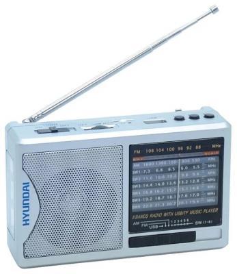 Радиоприемник Hyundai H-PSR160 серебристый