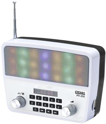 Радиоприемник Сигнал РП-232 белый/черный