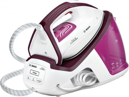 Паровая станция Bosch TDS4020 2400Вт белый розовый фиолетовый чёрный паровая станция bosch tds 2215