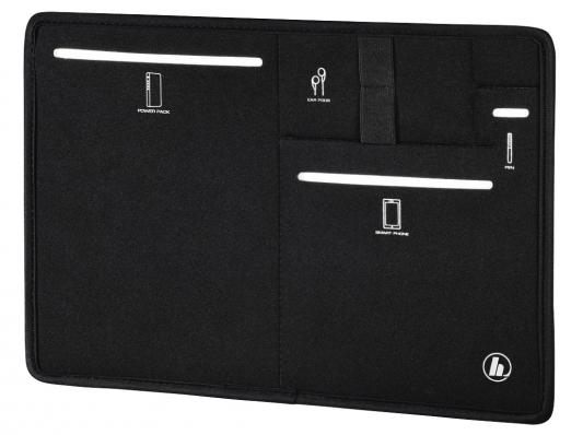 """Чехол Hama Bag Organizer универсальный для планшетов с экраном 10.6"""" неопрен черный 00101788 black crossed front design v neck bat sleeves blouses"""