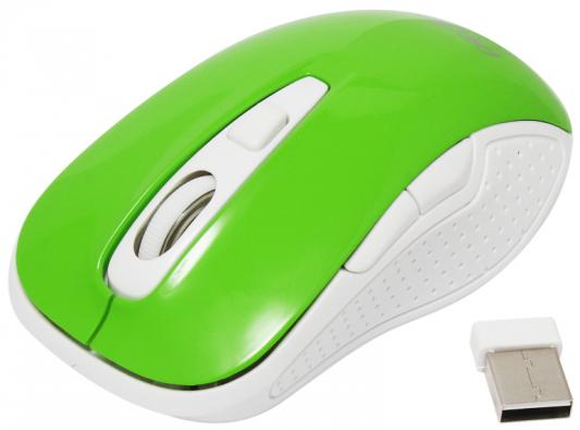 Мышь беспроводная Perfeo Click PF-966 зелёный USB + радиоканал аккумулятор для ноутбука pitatel bt 607