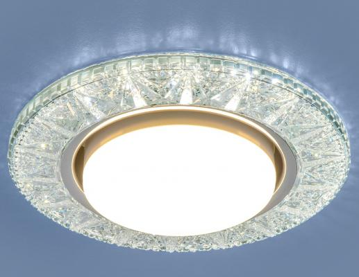 Встраиваемый светильник Elektrostandard 3022 GX53 CL прозрачный 4690389100024 elektrostandard электронный пускорегулирующий аппарат эпра elektrostandard bls 03 t4 20w 4690389037078