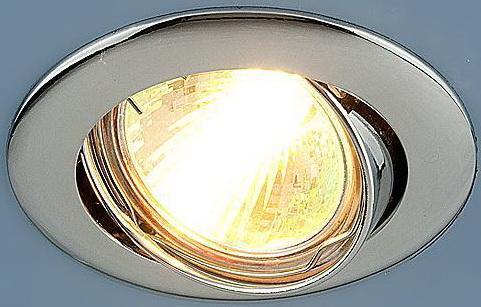 Фото - Встраиваемый светильник Elektrostandard 104S MR16 CH хром 4690389060250 cветильник галогенный de fran встраиваемый 1х50вт mr16 ip20 зел античное золото