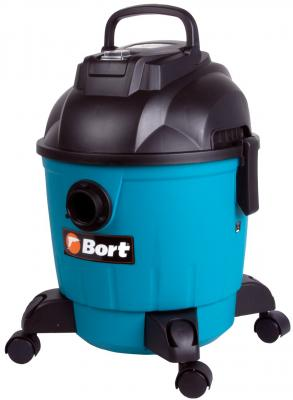 Промышленный пылесос BORT BSS-1218 сухая влажная уборка чёрный синий промышленный пылесос bort bss 1415 w влажная сухая уборка чёрный синий