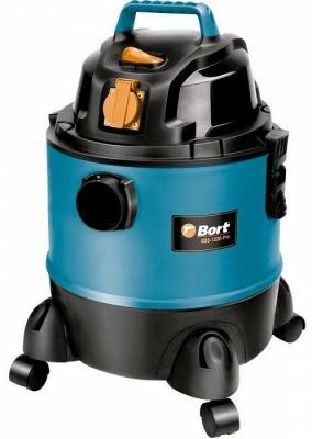 Промышленный пылесос BORT BSS-1220-Pro сухая влажная уборка чёрный синий промышленный пылесос dewalt dwv 901 l сухая уборка чёрный жёлтый