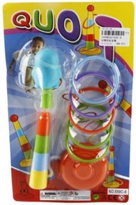 Купить Кольцеброс дет. Пингвинчик, 5 колец, Наша Игрушка, Пластик, Для всех, Спортивные товары