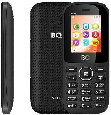 "Мобильный телефон BQ BQ-1807 Step+ черный 1.77"" 64 Мб"