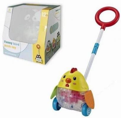 Каталка на палочке Наша Игрушка Цыпленок разноцветный от 3 лет пластик Y2718143 трикси игрушка цыпленок 45 см