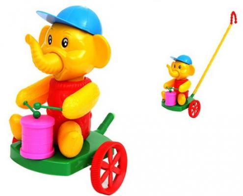 Каталка на палочке Suchanek Слон с барабаном разноцветный от 6 месяцев пластик SHNK-05 каталка s s toys слон с барабаном 0356 в пакете