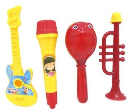 Набор инструментов с гитарой, 4 предм., пакет набор инструментов квалитет ндм 85