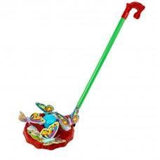 Каталка на палочке Тилибом Бабочки разноцветный от 3 лет пластик каталка на палочке s s toys вертолет 23х16х13см