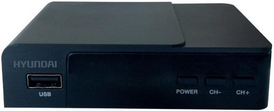 Тюнер цифровой DVB-T2 Hyundai H-DVB140 черный d color dc700hd dvb t2 цифровой тв тюнер