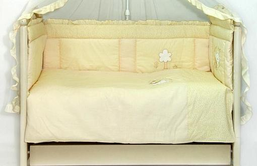 Бампер в кроватку Labeillebaby Светик (желтый) комплект в кроватку labeillebaby светик 7 предметов белый