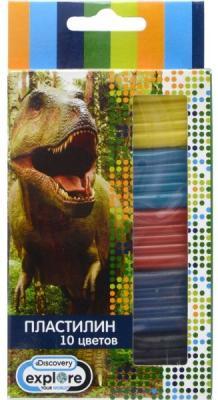 Пластилин DISCOVERY, 10 цв, 100 гр, карт. уп. с европодвесом