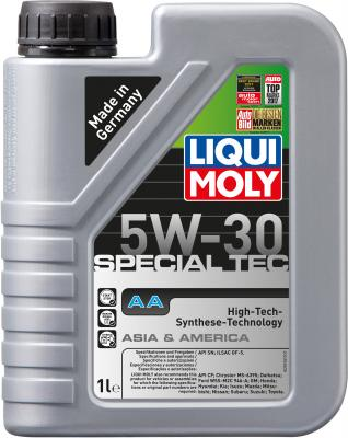 НС-синтетическое моторное масло LiquiMoly Special Tec AA 5W30 1 л 7515 синтетическое моторное масло peak full synthetic motor oil euro 5w 40 0 946 л p4mse576