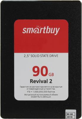 Твердотельный накопитель SSD 2.5 90GB Smartbuy Revival 2 SATAIII SB090GB-RVVL2-25SAT3 жесткий диск 120gb smartbuy revival 2 sb120gb rvvl2 25sat3
