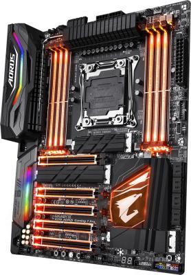 Мат. плата для ПК GigaByte X299 AORUS Gaming 7 Pro Socket 2066 X299 8xDDR4 5xPCI-E 16x 8xSATAIII ATX брелок для сигнализации scher khan magicar 7 8 pro 2w