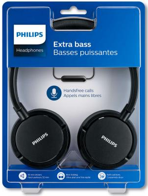 Гарнитура Philips SHL5005/00 черный bluetooth гарнитура philips shb4405bk 00 black