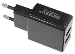 Сетевое зарядное устройство GINZZU GA-3312UB USB microUSB 3.1А черный