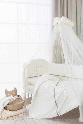 Купить Сменное постельное белье 3 предмета Перина Le Petit Bebe (молочно-оливковый), молочный, 105 х 170 см