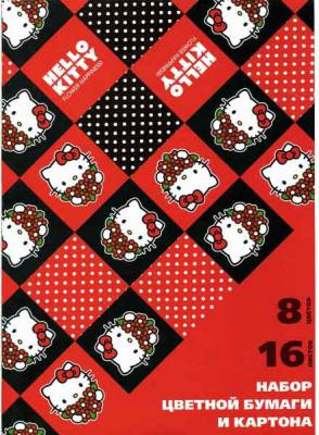 Цветная бумага Action! Hello Kitty A4 16 листов HKO-ACCP-16/8g в ассортименте