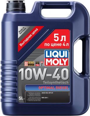 Полусинтетическое моторное масло LiquiMoly Optimal Diesel 10W40 5 л 2288 полусинтетическое моторное масло liquimoly optimal 10w40 1 л 3929