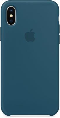 Накладка Apple Silicone Case для iPhone X космический синий MR6G2ZM/A накладка apple silicone case для iphone 7 синий mmwk2zm a