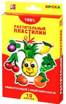Пластилин растительный КРОХА мягкий со стеком, 10цв.