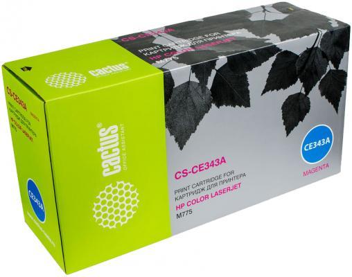 Картридж Cactus CS-CE343AV для HP CLJ M775 пурпурный 16000стр картридж cactus cs q2673ar для hp clj 3500 3550 3700 пурпурный 4000стр