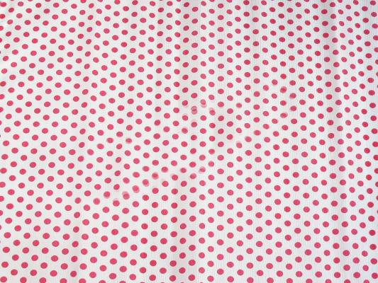 Бумага креповая Koh-i-Noor белая с красными кружками 200х50 см рулон 9755/53
