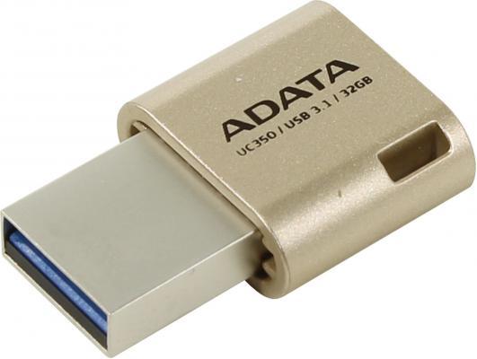 Флешка USB 32Gb A-Data UC350 AUC350-32G-CGD золотистый цена и фото