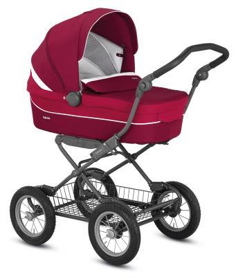Коляска для новорожденного Inglesina Sofia на шасси Ergobike Slate (AB15H6AMN/Y+ AE15H6100/ цвет amarena)