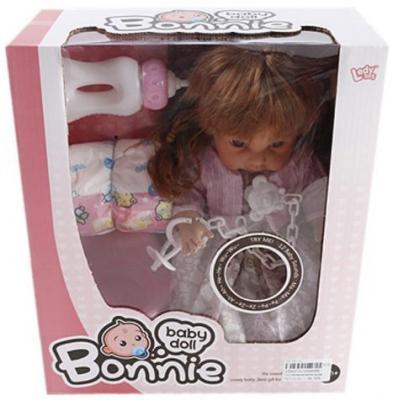 купить Кукла Shantou Gepai Bonnie 30 см со звуком писающая пьющая по цене 840 рублей