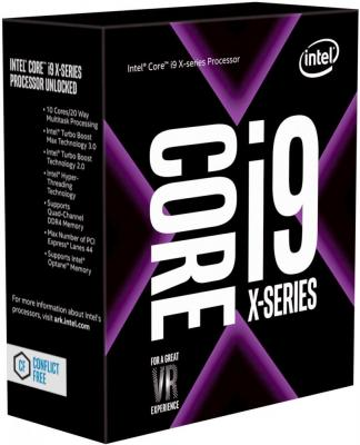Процессор Intel Core i9-7900X 3.3GHz 10Mb Socket 2066 Box без кулера процессор intel original core i9 7900x soc 2066 bx80673i97900x s r3l2 3 3ghz box w o cooler