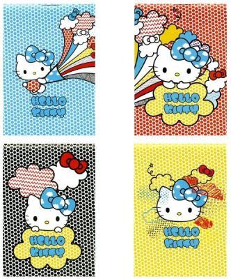 Блокнот Action! HELLO KITTY HKO-APC-7/40-4 A7 40 листов tfs cotton linen leaning cushion covers square 17 7 17 7 throw pillow case colored fish