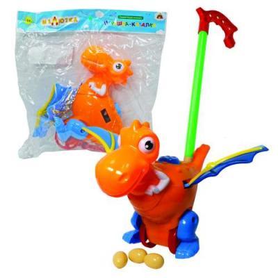 Каталка на палочке Тилибом Дракон разноцветный от 1 года пластик каталка на палочке karolina toys колесо пластик от 1 года разноцветный 40 0032