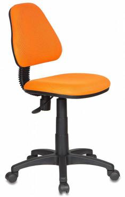 Кресло детское Бюрократ KD-4/TW-96-1 оранжевый цена