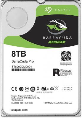 Жесткий диск 3.5 8 Tb 7200rpm 256Mb cache Seagate Barracuda Pro SATAIII ST8000DM0004 жесткий диск 3 5 3 tb 7200rpm 128mb cache seagate sataiii st3000nm0005