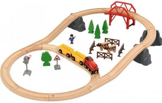 Железная дорога Brio Поездка по сельской местности с мостом с 3-х лет brio погрузчик с подъемником