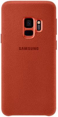 Чехол (клип-кейс) Samsung для Samsung Galaxy S9 Alcantara красный (EF-XG960AREGRU)